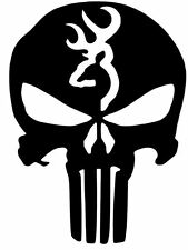 2X PAIR Browning Deer Hunting PUNISHER car truck window sticker decal