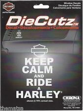 HARLEY DAVIDSON MOTORCYCLES KEEP CALM AND RIDE A HARLEY STICKER DECAL