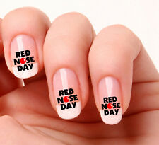 20 Nail Art Decals Transfers Stickers #740 - Red Nose Day. Red Nose