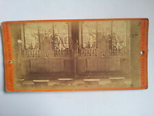 Originale Photo stereo c1900 - FRANCE- Chevry (77) - Maître autel de l'église