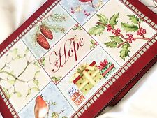 Set of pimpernel placemats Christmas