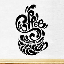 Coffee Cup Splash Kitchen Wall Tea Sticker Vinyl Decal Art Restaurant Pub Decor