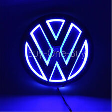 5D Reflective LED LOGO Emblem Badge Decal Sticker Lights For vw Volkswagen Blue