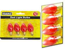 Lot of (3) Pack of 4 Small Red Light Bulbs for Decoration/ Events/ Holiday