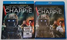 CHAPPIE BLU RAY NEW RELEASE WITH SLIPCOVER FREE WORLDWIDE SHIPPING