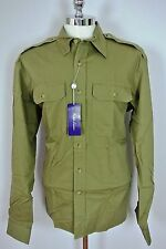 RALPH LAUREN PURPLE LABEL Tailored Fit Shirt Olive Sz XXL 2XL Made in Italy NWT
