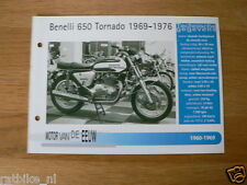 MVE05- BENELLI 650 TORNADO 1969-76 MINI POSTER AND INFO MOTORCYCLE,MOTORRAD,