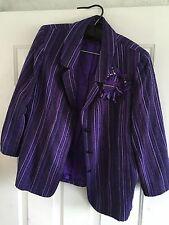 Vintage Chanel Purple Wool Jacket Rare