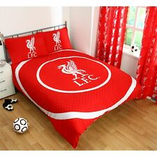 LIVERPOOL FC DOUBLE DUVET COVER SET NEW FOOTBALL BEDDING