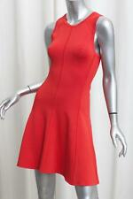 A.L.C. ALC Womens Red Rayon Blend Knit Sleeveless Shift A-Line Dress S