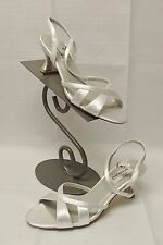 """3013 DYEABLES CHANTILLY  2."""" HEEL   WHITE SLING BACK 8.5  $65.00 SHOES"""