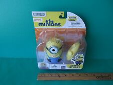 """Despicable Me Spinning Action Minion Stuart the Rebel  """"voice,lights,music"""" Cute"""