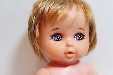 vintage takara (?) drink & wet blonde baby doll 14 inch