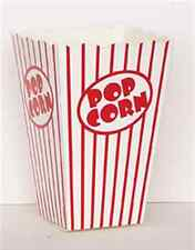 10 POPCORN BOXES LARGE RED AND WHITE HOLLYWOOD PARTY CELEBRATIONS RETRO