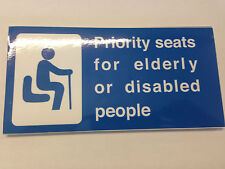 Bus Priority Seat for the Elderly and Disabled Sticker