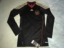 Adidas TechFit Germany Authentic Player Issue Away Soccer Jersey 2010/11 Size XL