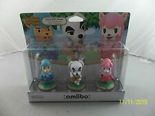 Animal Crossing 3 Pack Amiibo Figure USA Version K.K. Slider, Cyrus & Reese New