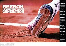 PUBLICITE ADVERTISING 116  1989   Reebok  (2p)   chaussures de sport baskets 2