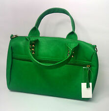 WOMENS BAG GREEN STUDDED  LEATHER  UK FAST POSTAGE NEW  QUILTED