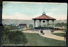 C1910 View of the Band Stand Victoria Gardens, Chatham, Kent