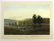 """GERALD COULSON """"Dawn"""" fishing lake country LE SIGNED! SIZE:51cm x 68cm NEW RARE"""
