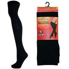 Ladies Black Thermal Over The Knee Socks Tights Leg Warmers Winter 140D Thick