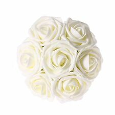 Ling's Moment Artificial Flowers 50pcs Ivory Real Looking Wedding Centerpieces