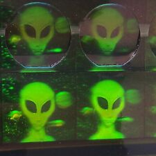 Outer Space Alien Area 51 Hologram Stickers Roswell UFO Green Men ET Terrestrial
