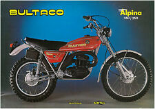 BULTACO Brochure Alpina 350 & 250 Trials 1977 1978 & 1979 Sales Catalog REPRO