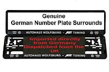 VW AUDI Wolfsburg Number Plate Surrounds ABT TUNING GTI
