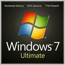 Rottami PC/Laptop HP/Dell con Windows 7 Ultimate 32/64 Bit chiave di licenza COA