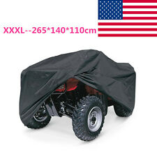 Black XXXL ATV Outdoor Waterproof Cover For Kawasaki Bayou 185 220 250 300 400