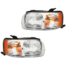 Fits 2001-2004 Ford Escape Driver Passenger Side Headlight Lamp Assembly 1 Pair
