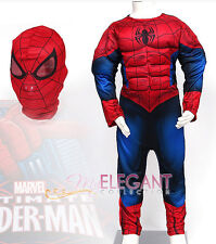Marvel Ultimate Spider-Man Muscle Deluxe Children Boy Kids Halloween Costume 5-6