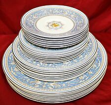 24 Myott MEDICI SKY BLUE China Dinner Salad Desert Plates STAFORDSHIRE ENGLAND