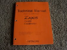 Hitachi Excavator ZX450 ZX 450 Factory Technical Service Shop Repair Manual