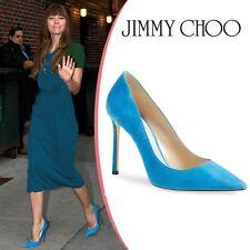 NIB $595 Jimmy Choo Romy Suede Heels Pumps Shoes sz 39 9 Blue