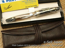 Pilot (NAMIKI) Custom 823 Brown Smoke Medium-nib & Pensemble Single pocket Brown