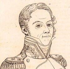 Portrait Général Gaspard Gourgaud Napoléon Bonaparte Premier Empire 1821