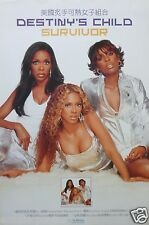 "DESTINY'S CHILD ""SURVIVOR"" HONG KONG PROMO POSTER-Sexy Beyonce, Kelly & Michelle"
