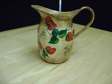 Vintage/Antique Handpainted Enamel Pitcher stawberry