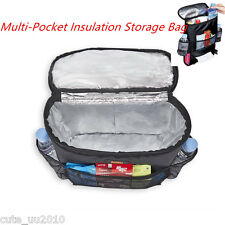 Multi-function Storage Bag Hanging Organizer Cooler Mummy Baby Stroller Pockets