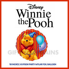 "Disney Winnie The Pooh 18"" 3D Foil Mylar 1st Birthday Party Balloons 2 sided"