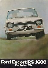 Ford Escort RS 1600 Mk1 1970 UK Market Sales Brochure