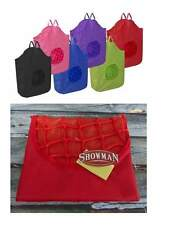 NEW Showman Red Poly Rope Net HORSE HAY TOTE LG 30x21 BAG Heavy Nylon Canvas