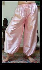 Harem Pants Belly Dance Satin Light Pink