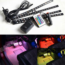 4X Car Interior Glow Dash Floor Underseat Light Strip Set 16-color RGB SMD LED