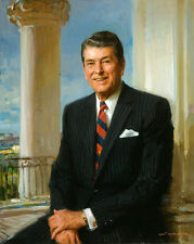 """Excellent Oil painting America President Ronald Reagan in White House canvas 36"""""""