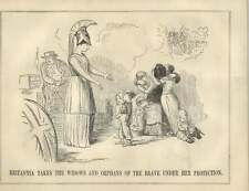 1854 Britania Takes Widows And Orphans Of Brave Satire