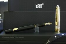 MONTBLANC 144DS .925 Sterling  W/Gold FOUNTAIN PEN NEW IN BOX!! (M) Nib #17313